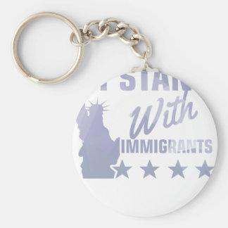 Chaveiro Pro camisa da estátua da liberdade da imigração