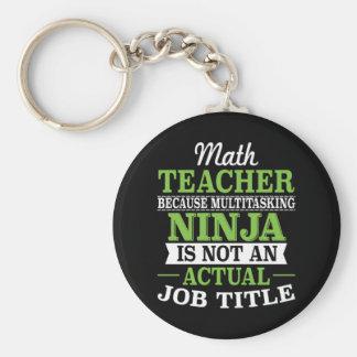 Chaveiro Professor de matemática Ninja a multitarefas não