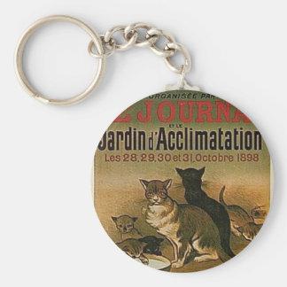 Chaveiro Propaganda francesa do vintage - gatos