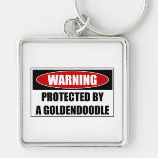 Chaveiro Protegido por um Goldendoodle