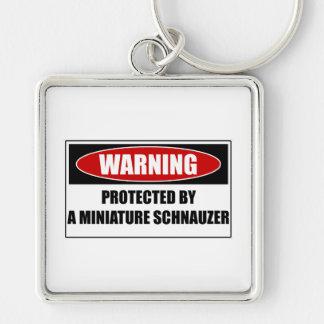 Chaveiro Protegido por um Schnauzer diminuto