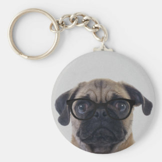 Chaveiro Pug do geek