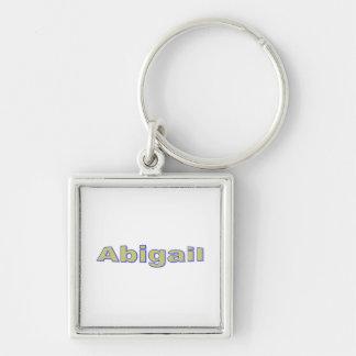 Chaveiro quadrado para Abigail