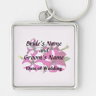 Chaveiro Quatro vermelhos e petúnias brancos que Wedding
