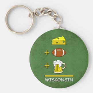 Chaveiro Queijo e futebol e meios Wisconsin da cerveja