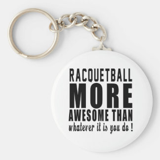 Chaveiro Racquetball mais impressionante do que o que quer