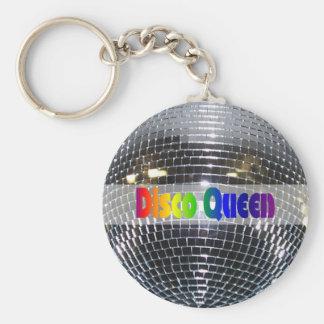 Chaveiro Rainha brilhante 80s retro do disco da prata | da