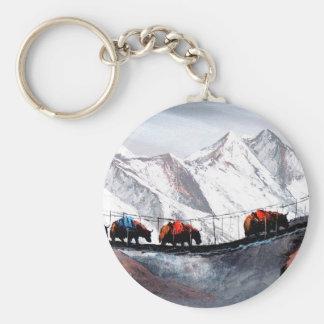 Chaveiro Rebanho de iaques Himalaya da montanha