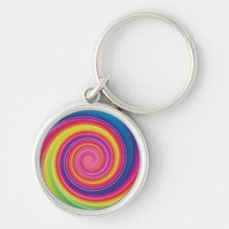 Chaveiro Redemoinho colorido de Lollypop do arco-íris