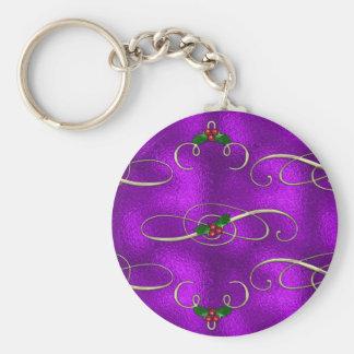 Chaveiro Redemoinhos românticos do Natal do Lilac