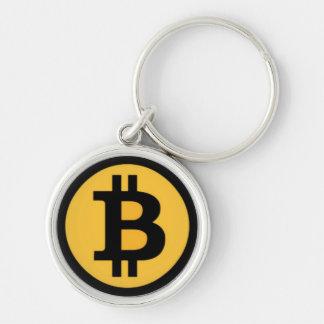 Chaveiro redondo superior do logotipo de Bitcoin
