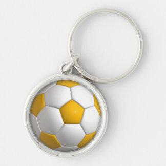 Chaveiro redondo superior pequeno do futebol