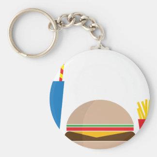 Chaveiro refeição do fast food