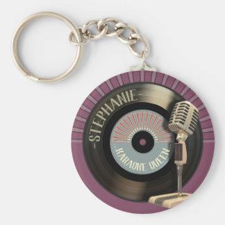 Chaveiro Registro retro engraçado da rainha do karaoke