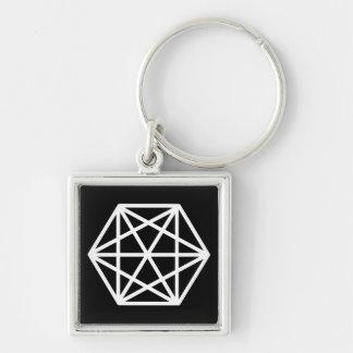 Chaveiro Rei (-)/(3,5 cm) anel chave quadrado superior