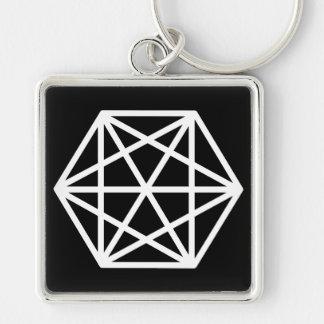 Chaveiro Rei (-)/grande (5,1 cm) anel chave quadrado