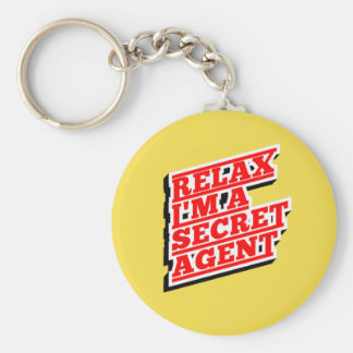 Chaveiro Relaxe-me são um agente secreto engraçado