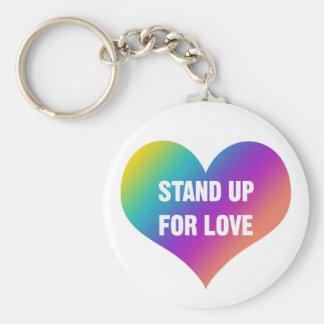 Chaveiro Represente acima o amor (o coração do arco-íris)