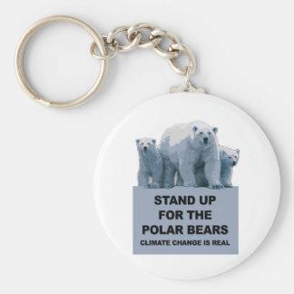 Chaveiro Represente acima os ursos polares