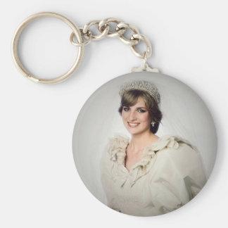 Chaveiro Retrato de casamento da princesa Diana