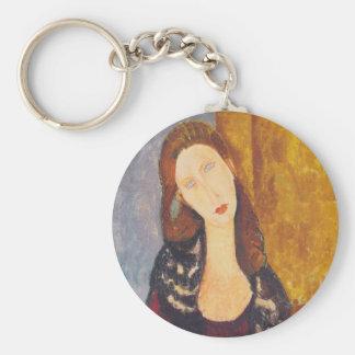 Chaveiro Retrato de Jeanne Hebuterne por Amedeo Modigliani