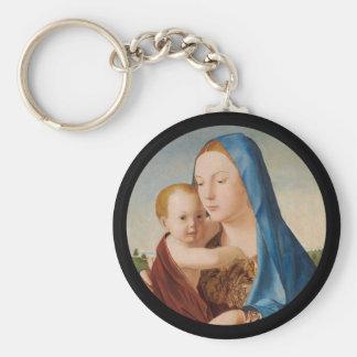 Chaveiro Retrato de Mary que guardara o bebê Jesus
