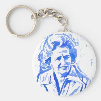 Chaveiro Retrato do pop art de Margaret Thatcher