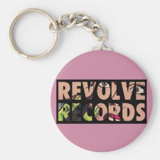 Chaveiro Revolva o rosa do logotipo dos registros