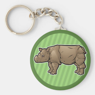 Chaveiro Rinoceronte de Sumatran
