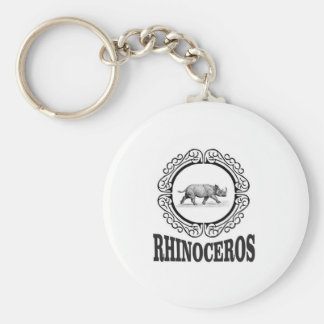 Chaveiro Rinoceronte do círculo