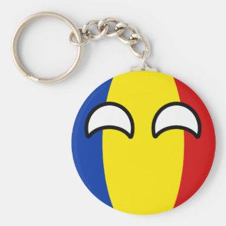 Chaveiro Romania Geeky de tensão engraçado Countryball