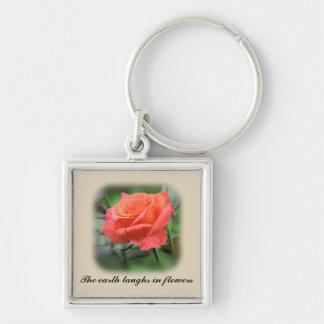 Chaveiro Rosa do rosa na flor completa