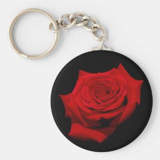 Chaveiro Rosa vermelha no fundo preto