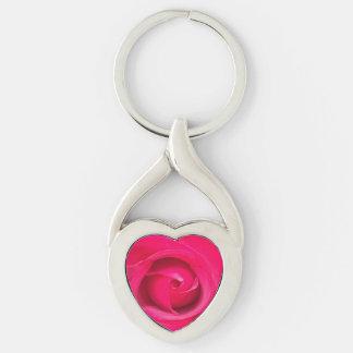 Chaveiro Rosa vermelho romântico do rosa