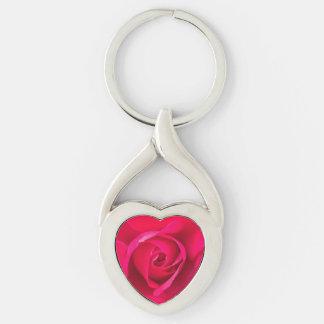 Chaveiro Rosa vermelho romântico v2 do rosa
