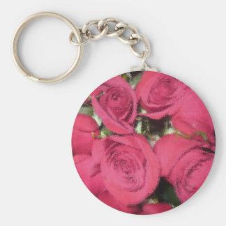 Chaveiro Rosas cor-de-rosa com escova seca II.jpg