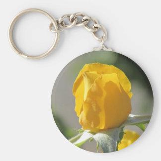 Chaveiro Rosebud amarelo
