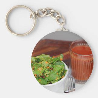 Chaveiro Salada de agrião do molho do tomate da cenoura do