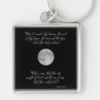 Chaveiro Salmo 8, versos 3 e 4 e a Lua cheia