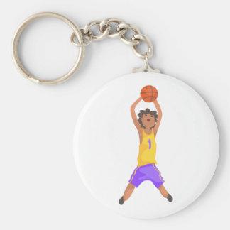 Chaveiro Salto do jogador de basquetebol e ação de jogo