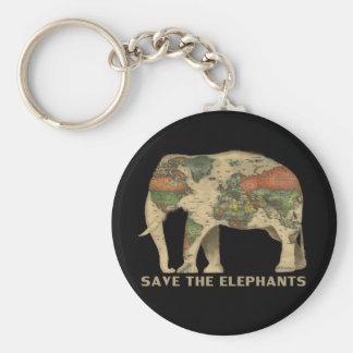 Chaveiro Salvar os elefantes