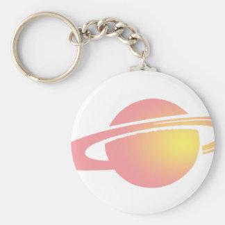 Chaveiro Saturn cor-de-rosa