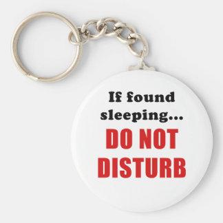 Chaveiro Se encontrado dormir não perturba