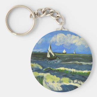 Chaveiro Seascape em Saintes-Maries, Van Gogh