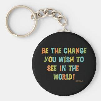 Chaveiro Seja a mudança que você deseja ver