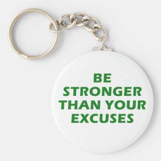 Chaveiro Seja mais fortes do que suas desculpas