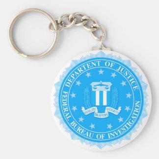 Chaveiro Selo do FBI no azul
