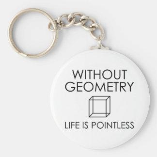 Chaveiro Sem geometria a vida é injustificada