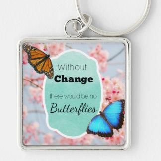 Chaveiro Sem mudança nenhuma borboleta cita o rosa & o Aqua