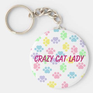 Chaveiro Senhora louca do gato - impressões da pata -